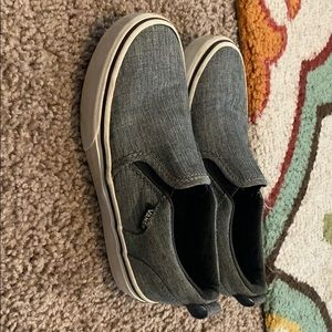 Boys van's slip on shoes